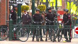 HD2009-5-1-24 bike cops Stock Video Footage