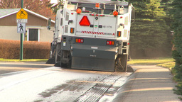 HD2009-5-2-4 street sweepers Stock Video Footage