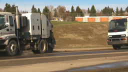 HD2009-5-2-8 street sweepers and washer Stock Video Footage
