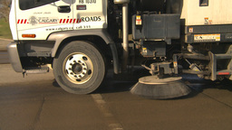 HD2009-5-2-12 street sweepers Stock Video Footage