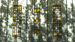 HD2009-5-3-3 abstract shadows on colored glass Stock Video Footage