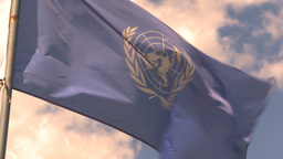 HD2009-5-6-6 UN flag Stock Video Footage