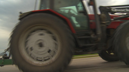 HD2009-5-6-30 farm tractor Stock Video Footage