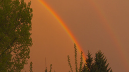 HD2009-5-6-32b sunset rainbow Stock Video Footage