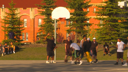 HD2009-5-10-2 basketball game Stock Video Footage