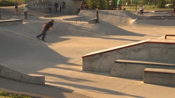 HD2009-5-10-10 skateboard park Footage