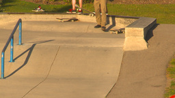 HD2009-5-10-12 skateboard park Stock Video Footage