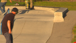 HD2009-5-10-12 skateboard park Stock Video Footage