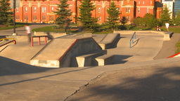 HD2009-5-10-14 skateboard park hispd Footage