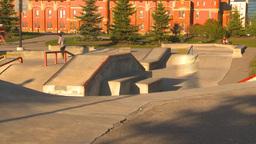 HD2009-5-10-14 skateboard park hispd Stock Video Footage