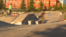 HD2009-5-10-14 skateboard park hispd Stock Video Footage