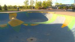 HD2009-5-10-16 BMX skateboard park Stock Video Footage