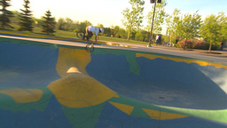 HD2009-5-10-18 BMX skateboard park Footage