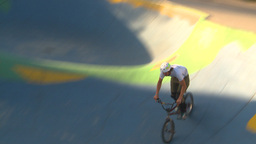 HD2009-5-10-18 BMX skateboard park Stock Video Footage