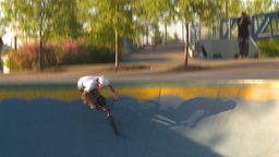HD2009-5-10-20 BMX skateboard park Stock Video Footage