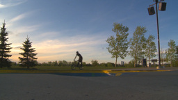 HD2009-5-10-22 BMX skateboard park Stock Video Footage