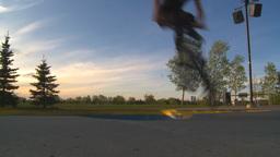 HD2009-5-10-22 BMX skateboard park Stock Video Footage