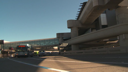 HD2009-11-1-3 San Fran airport traffic w bus Stock Video Footage