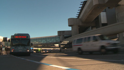 HD2009-11-1-3 San Fran airport traffic w bus Footage