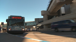 HD2009-11-1-3 San Fran airport traffic w bus Stock Video Footage