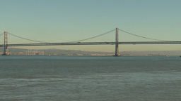 HD2009-11-1-7 bay bridge Treasure island tracking Stock Video Footage