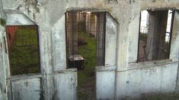 HD2009-11-1-11 Alcatraz ruins tilt Footage
