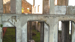 HD2009-11-1-11 Alcatraz ruins tilt Stock Video Footage