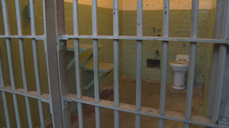 HD2009-11-1-19 Alcatraz prisoncell Stock Video Footage