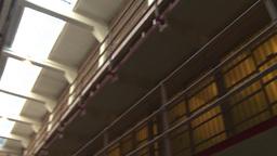 HD2009-11-1-23 Alcatraz prison cell pan Stock Video Footage