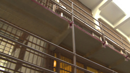HD2009-11-1-23 Alcatraz prison cell pan Stock Video Footage