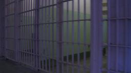 HD2009-11-1-25 Alcatraz prison cells walk in Stock Video Footage