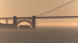 HD2009-11-1-29 Golden gate bridge and ship Stock Video Footage