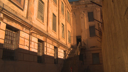 HD2009-11-1-31 Alcatraz prison ext Stock Video Footage