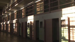 HD2009-11-1-33 Alcatraz prison cells 2 shot Stock Video Footage
