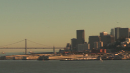 HD2009-11-1-35 San fran cityscape pan reveal Stock Video Footage