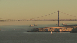 HD2009-11-1-37 bay bridge and boats Stock Video Footage