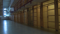HD2009-11-1-39 Alcatraz prison cells pan Stock Video Footage