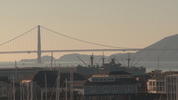 HD2009-11-2-4 GG bridge and liberty ship Footage