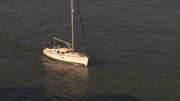 HD2009-11-2-6 sailboat on dark water Footage