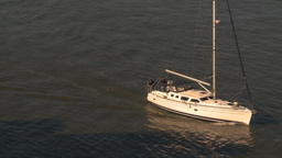 HD2009-11-2-6 sailboat on dark water Stock Video Footage
