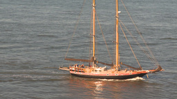 HD2009-11-2-12 sailboat through frame Stock Video Footage