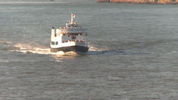 HD2009-11-2-14 alcatraz cruise ferry head on Stock Video Footage