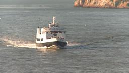 HD2009-11-2-14 alcatraz cruise ferry head on Stock Video Footage