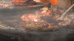 HD2009-11-2-18 BBQ chicken Stock Video Footage