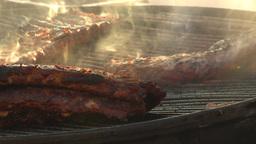 HD2009-11-2-20 BBQ ribs Stock Video Footage