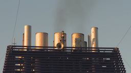 HD2009-11-2-22 smoke stacks Stock Video Footage