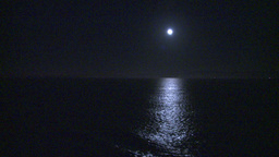 HD2009-11-2-28 night full moon at sea Footage