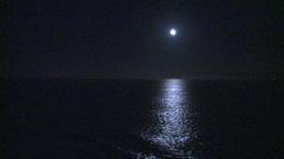 HD2009-11-2-28 night full moon at sea Footage
