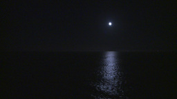 HD2009-11-2-30 night full moon at sea Stock Video Footage