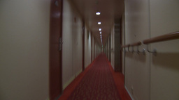 HD2009-11-3-2 running down hotel hall TL Stock Video Footage